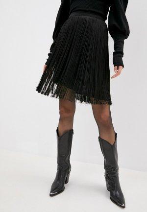 Юбка Alberta Ferretti. Цвет: черный