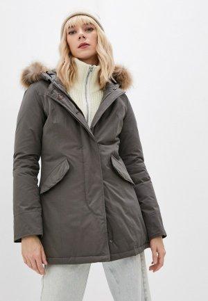 Куртка утепленная Canadian. Цвет: серый