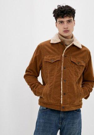 Куртка утепленная Pepe Jeans. Цвет: коричневый