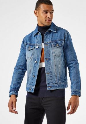 Куртка джинсовая Burton Menswear London. Цвет: синий
