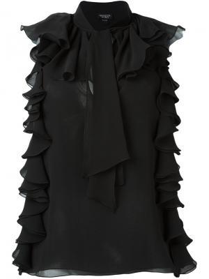 Блузка без рукавов Giambattista Valli. Цвет: чёрный