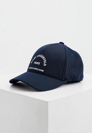 Бейсболка Karl Lagerfeld. Цвет: синий