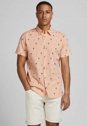 Рубашка Jack & Jones. Цвет: коралловый