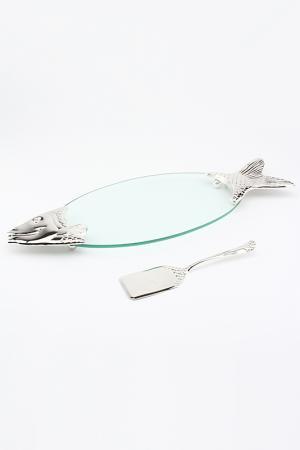 Ваза с лопаткой Рыбка MARQUIS. Цвет: серебристый