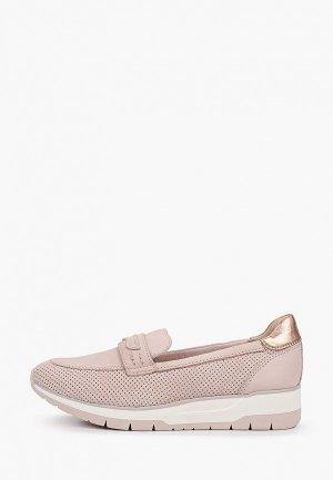 Слипоны Tamaris. Цвет: розовый