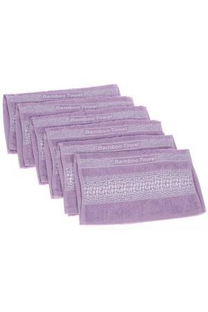 Набор полотенец, 6 шт BRIELLE. Цвет: лиловый