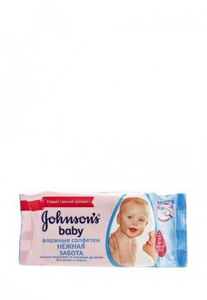 Влажные салфетки Johnson &. Цвет: прозрачный