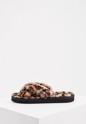 Тапочки Michael Kors. Цвет: коричневый