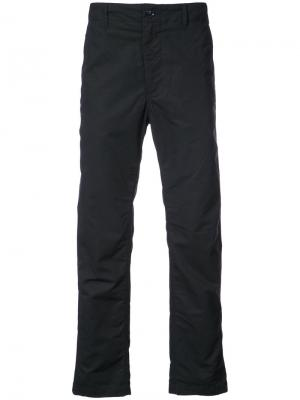 Брюки прямого кроя Engineered Garments. Цвет: синий