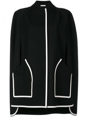 Кейп с застежкой на кнопки Versace Collection. Цвет: чёрный