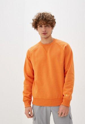 Свитшот Carhartt. Цвет: оранжевый