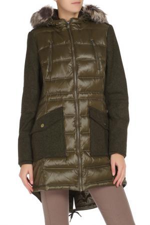 Пальто BCBG. Цвет: зеленый