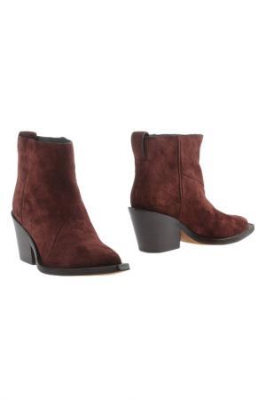 Ankle boots ACNE STUDIOS. Цвет: vinous