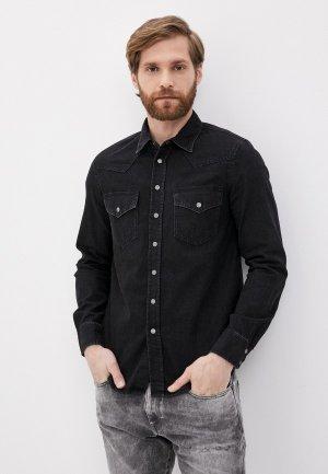 Рубашка джинсовая Diesel. Цвет: черный