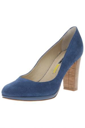 Туфли MANAS. Цвет: голубой