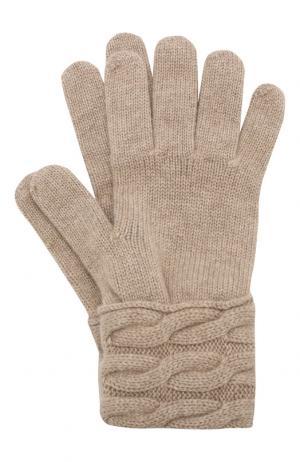 Вязаные перчатки из кашемира Kashja` Cashmere. Цвет: светло-бежевый