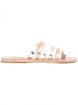 Сандалии Niki с отделкой металлик Ancient Greek Sandals. Цвет: металлический