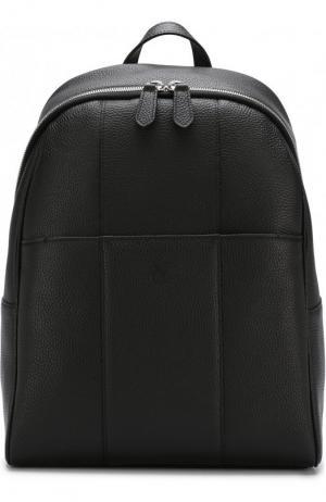Кожаный рюкзак Canali. Цвет: черный
