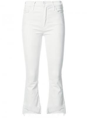 Укороченные джинсы с необработанными краями Mother. Цвет: белый