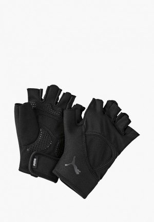 Перчатки для фитнеса PUMA. Цвет: черный