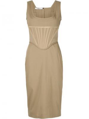 Облегающее платье-бюстье Givenchy. Цвет: телесный