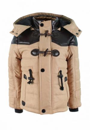 Куртка утепленная Irby Style. Цвет: бежевый