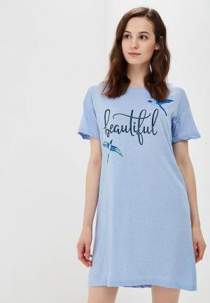 Сорочка ночная Modis. Цвет: голубой
