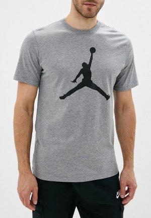 Футболка спортивная Jordan. Цвет: серый