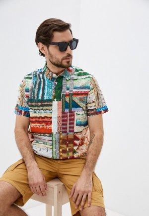 Рубашка Desigual. Цвет: разноцветный