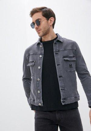 Куртка джинсовая Karl Lagerfeld Denim. Цвет: серый