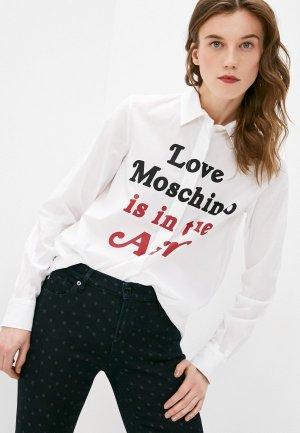 Рубашка Love Moschino. Цвет: белый