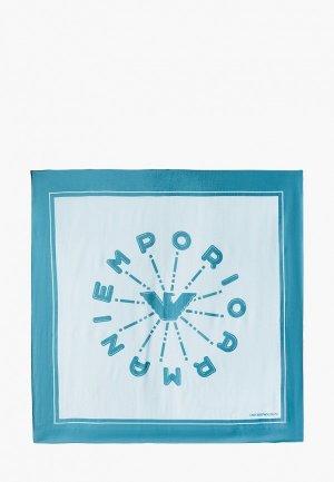 Платок Emporio Armani. Цвет: голубой