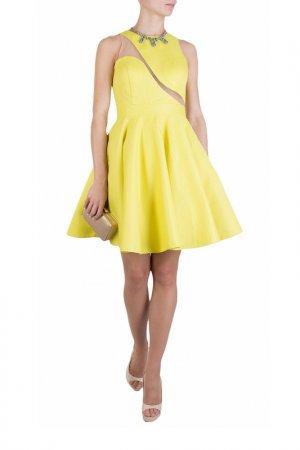Платье FOREVER UNIQUE. Цвет: желтый