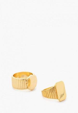 Кольца 2 шт. Mango. Цвет: золотой