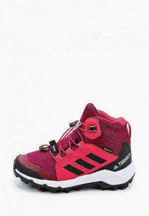 Ботинки трекинговые adidas. Цвет: розовый