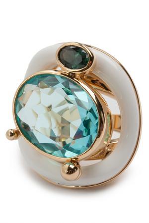 Кольцо Голубой топаз Patricia Bruni. Цвет: голубой