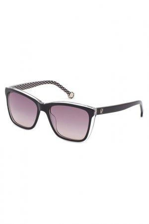 Солнцезащитные очки CAROLINA HERRERA. Цвет: черный
