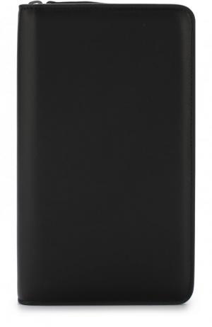 Кожаный футляр для документов на молнии Brioni. Цвет: черный