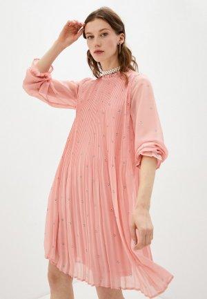 Платье Ichi. Цвет: розовый