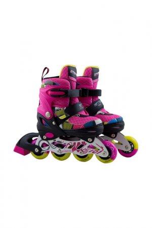 Роликовые коньки для детей ATEMI. Цвет: розовый