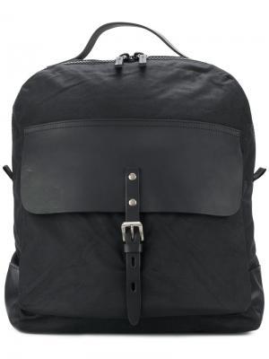 Рюкзак с вощеной отделкой Ian Ally Capellino. Цвет: чёрный