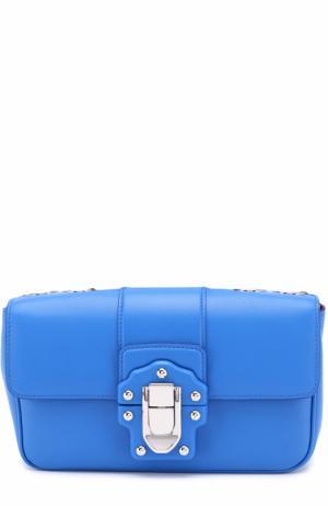 Сумка Lucia small на цепочке Dolce & Gabbana. Цвет: синий