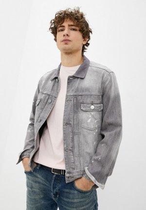 Куртка джинсовая AllSaints. Цвет: серый