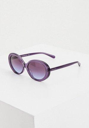 Очки солнцезащитные Coach. Цвет: фиолетовый