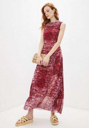Платье Fuzzi. Цвет: бордовый