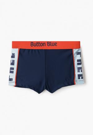 Плавки Button Blue. Цвет: синий
