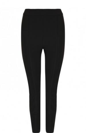 Однотонные брюки-скинни с разрезами на молниях Alexander Wang. Цвет: черный