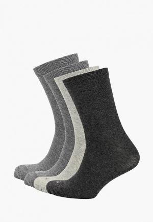 Носки 4 пары United Colors of Benetton. Цвет: серый