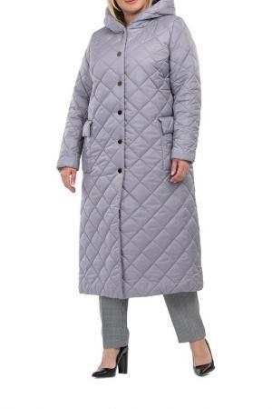 Пальто Modress. Цвет: серый