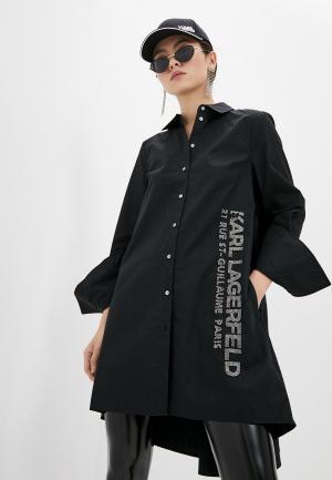 Туника Karl Lagerfeld. Цвет: черный